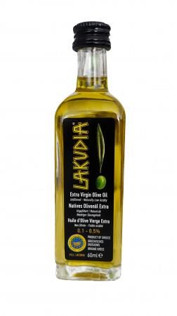 Extra natives LAKUDIA Olivenöl in 60 ml Probefläschchen
