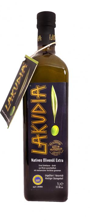 1l LAKUDIA Olivenöl Nativ Extra mit Ölspender