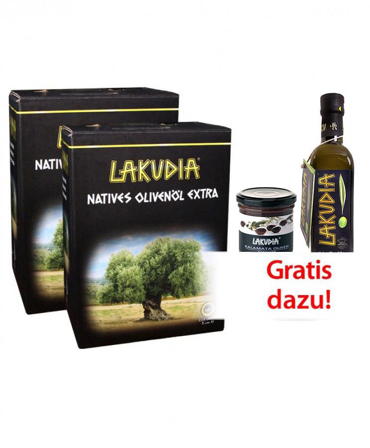 VORTEILSPAKET 10l LAKUDIA Olivenöl nativ extra Bag-in-Box