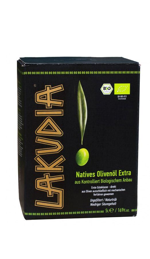5l LAKUDIA BIO Olivenöl nativ extra - Bag in Box