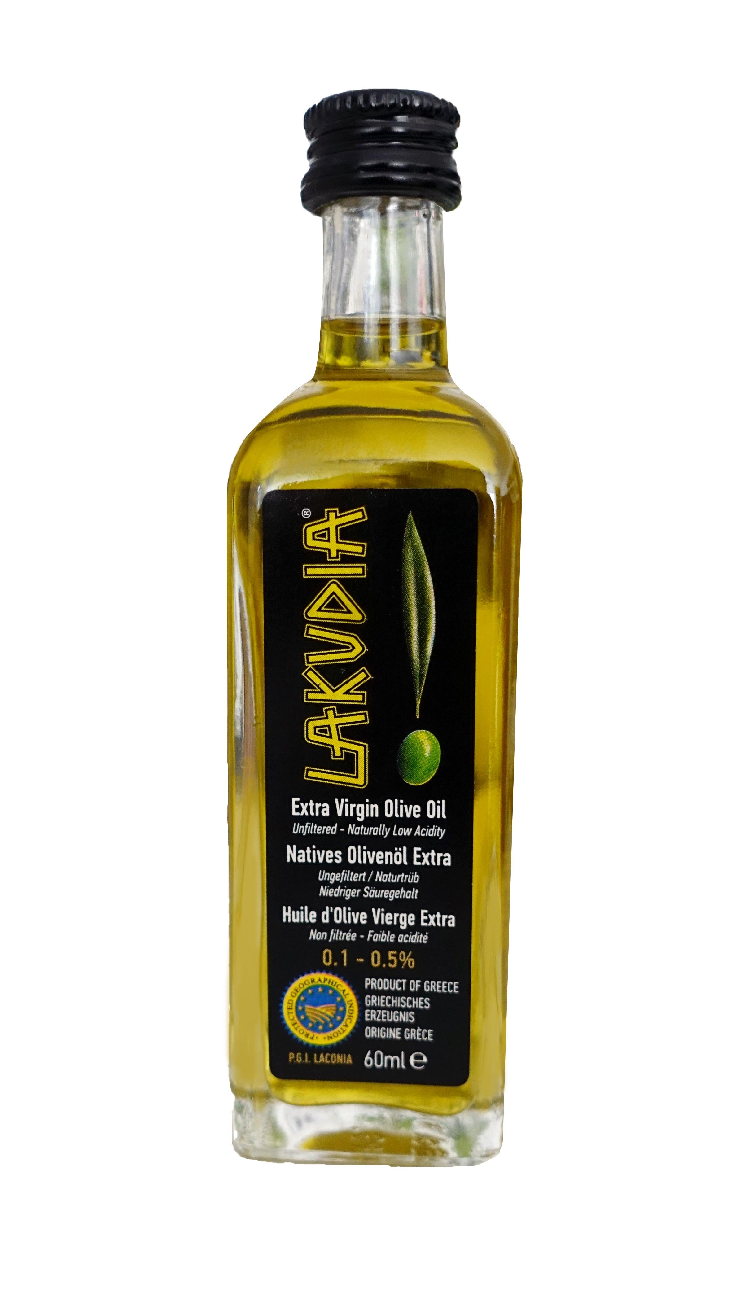 Extra natives LAKUDIA BIO Olivenöl in 60 ml Probefläschchen